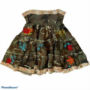 Flowers by Zoe Girls Sheard Camo & Floral Skirt 6X